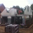 Opbouw nieuwbouwwoning Zuidlaren 1